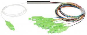 NIKOMAX NMF-SPP1X8A1-SCA-M - Сплиттер планарный 1x8, одномодовый 9/125мкм, стандарта G657.A1, SC/APC, миникорпус, с равным коэффициентом деления, 0.9 мм купить в Казани ОписаниеОптические планарные сплиттеры, так же известны как PLC (Planar Lightwave Circuit) делител