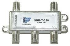 SNR-T-326 - Ответвитель абонентский на 3 отвода, вносимое затухание IN-TAP 26dB. купить в Казани Достоинства:Литой корпус с гальваническим покрытием;Рабочий диапазон 5-1000MHz;Входы и в