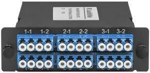 SNR-MCS-MPO/APC(M)-24LC/UPC -  Волоконно-оптические кассеты MPO/APC на 24LC/UPC портов, SM являются модульным Plug & Play решением, сочетающим самые высокие характеристики передачи, гибкость конфигурации купить в Казани Кассеты MPO представляют собой высокоэффективное модульное решение для быстрого развертывания волок