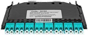 SNR-MCM-MPO/UPC(M)-16LC/UPC -  Кассета распределительная 2MPO/UPC (Male) - 16LC/UPC, MM (OM3), для панели SNR-CMP-144P купить в Казани Кассеты MPO представляют собой высокоэффективное модульное решение для быстрого развертывания волок