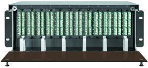 SNR-CMP-4U - Коммутационная панель 4U под MPO кассеты, является идеальным решением, в условиях повышенной плотности монтажа в центрах обработки данных. купить в Казани Волоконно-оптическая кабельная система MPO состоит из претерминированных многоволоконных оптических