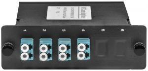 SNR-MCM-MPO/UPC(M)-8LC/UPC -  Волоконно-оптические кассеты MPO/UPC на 8 LC/UPC портов, MM, являются модульным Plug & Play решением, сочетающим самые высокие характеристики передачи, гибкость конфигурации купить в Казани Кассеты MPO представляют собой высокоэффективное модульное решение для быстрого развертывания волок
