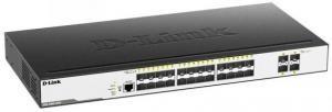 D-Link DGS-3000-28XS/B1A - Управляемый L2 коммутатор с 24 портами 1000Base-X SFP и 4 портами 10GBase-X SFP+