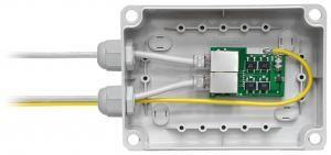 """SNR-DROZD-IP65-RU - Универсальная, влагозащищённая, морозостойкая, гигабитная, POE грозозащита """"Дрозд"""" IP65, корпус КР2801 купить в Казани Данная грозозащита имеет типовую, зарекомендовавшую себя, схему защиты, которая состоит из двух сту"""