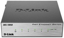 D-Link DES-1005D - Неуправляемый коммутатор с 5 портами 10/100Base-TX купить в Казани Описание:5-портовый (DES-1005D) и 8-портовый (DES-1008D) коммутаторы D-Link с поддержкой функции p