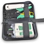 KI-NSHL468 - Набор инструментов для заделки и тестирования витой пары купить в Казани Характеристики:Пресс-клещи предназначены для заделки витой пары разъемами RJ45 (8P8C), RJ12 (6P6
