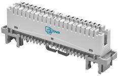 SNR-LSA-10 -  Размыкаемый плинт на 10 пар универсальный, категория 3, контакты IDC Krone, маркирорвка 1...0 купить в Казани Плинт размыкаемый SNR-LSA-10 предназначен для коммутации абонетских и соединительных теле