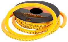 """NIKOMAX NMC-CMR-2-YL-500 - уп-ка 500шт., маркер кабельный, трубчатый, эластичный, под кабели 3.6-7.4мм, символ """"2"""", желтый купить в Казани Описание:Кабельные маркеры предназначены для маркировки кабелей, проводников и соединений. Маркиро"""