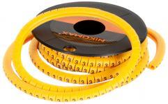 """NIKOMAX NMC-CMR-K-YL-500 - уп-ка 500шт., маркер кабельный, трубчатый, эластичный, под кабели 3.6-7.4мм, символ """"K"""", желтый купить в Казани Описание:Кабельные маркеры предназначены для маркировки кабелей, проводников и соединений. Маркиро"""