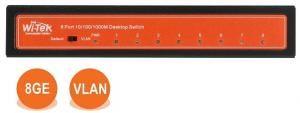Wi-Tek WI-SG108 - Коммутатор неуправляемый 8 портов 1000Base-T, корпус металл, внешний БП купить в Казани Неуправляемый гигабитный коммутатор WI-SG108 применяется в небольших инсталляциях IP-телефонии
