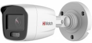 HiWatch DS-I250L (4 mm) - 2Мп уличная цилиндрическая IP-камера с LED-подсветкой до 30м и технологией ColorVu